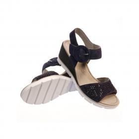Sandale Bleu pailletée gabor